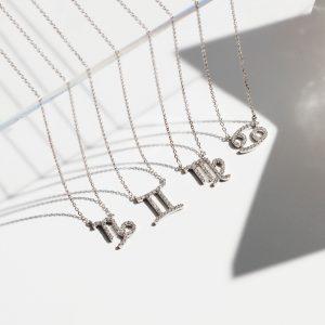 Diamond Zodiac Pendant Necklace - Shannakian Fine Jewellery