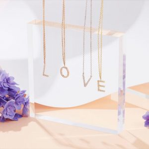 Diamond Single Initial Pendant Necklace - Shannakian Fine Jewellery