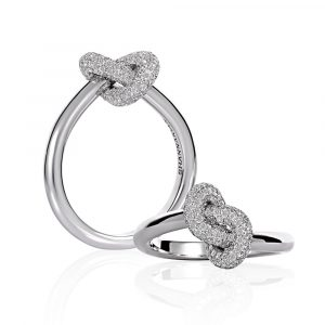 Diamond Knot Ring - Shannakian Fine Jewellery