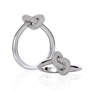 Diamond Knot Ring - Shannakian Fine Jewellery