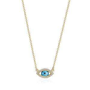 Diamond Evil Eye Necklace by Shananakian Fine Jewellery