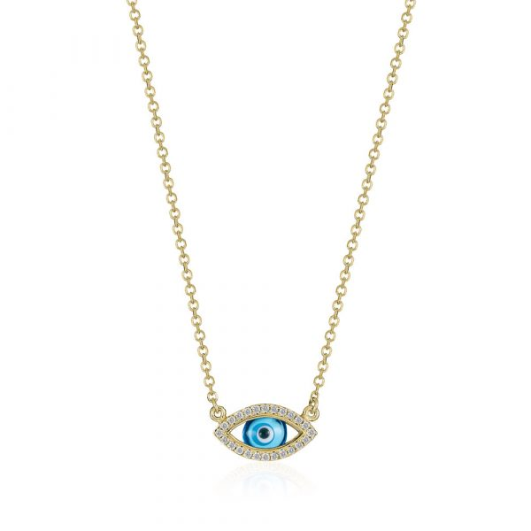 Diamond Evil Eye Necklace by Shananakian Fine Jewellery