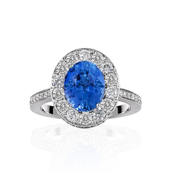 Diamond and Sapphire ring - Shannakian Fine Jewellery