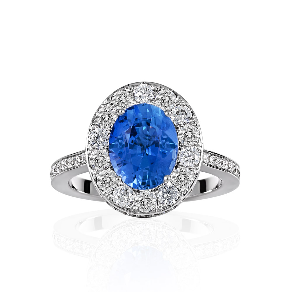 Diamond and Sapphire ring - Shannakian Fine Jewellery