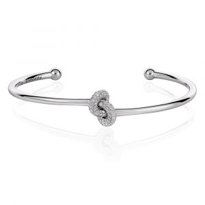 Diamond Knot Bangle - Shannakian Fine Jewellery