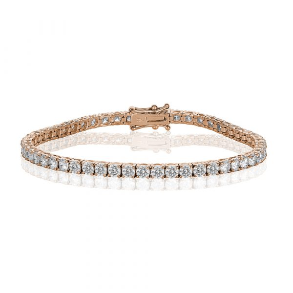 Diamond Tennis Bracelet Rose Gold