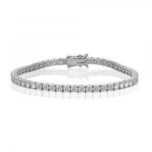 White Gold Diamond Tennis Bracelet 6.0cts - Shannakian Fine Jewellery