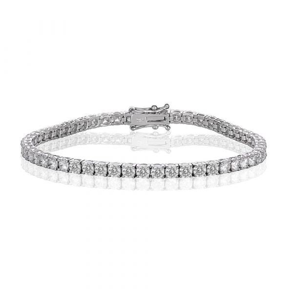 White Gold Diamond Tennis Bracelet 6.0cts - Shannakian Fine Jewellery