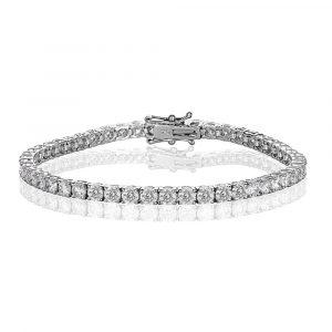 White Gold Diamond Tennis Bracelet 7.0cts - Shannakian Fine Jewellery