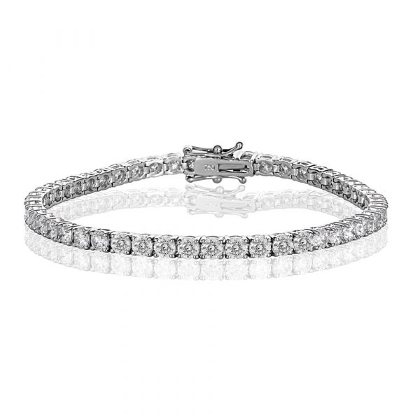 White Gold Diamond Tennis Bracelet 7.0cts - Shannakian Fine Jewellery