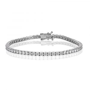White Gold Diamond Tennis Bracelet 5.0cts - Shannakian Fine Jewellery