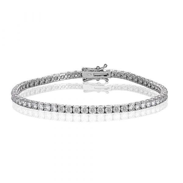 White Gold Diamond Tennis Bracelet 5.0cts - Shannakian Fine Jewellery
