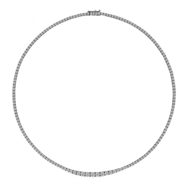 Diamond Tennis Necklace 14cts - Shannakian Fine Jewellery