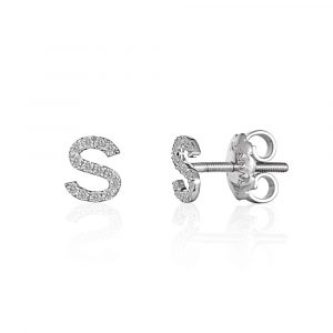 Diamond Initial Earrings - Shannakian Fine Jewellery