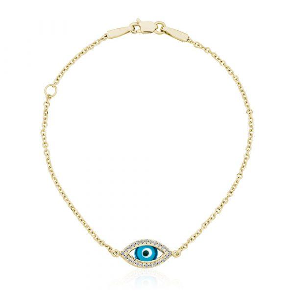 Diamond Evil Eye Bracelet - Shannakian Fine Jewellery