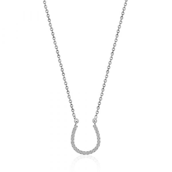 Diamond Horseshoe Pendant Necklace - Shannakian Fine Jewellery
