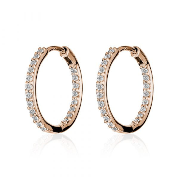 Diamond-hoop-earrings-rose-gold