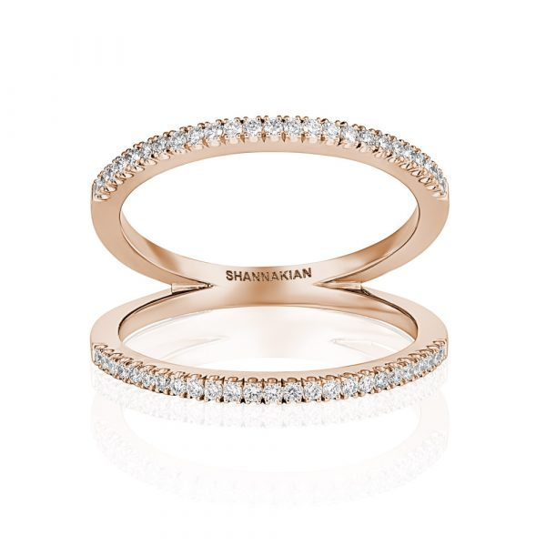 Diamond V Ring Rose Gold