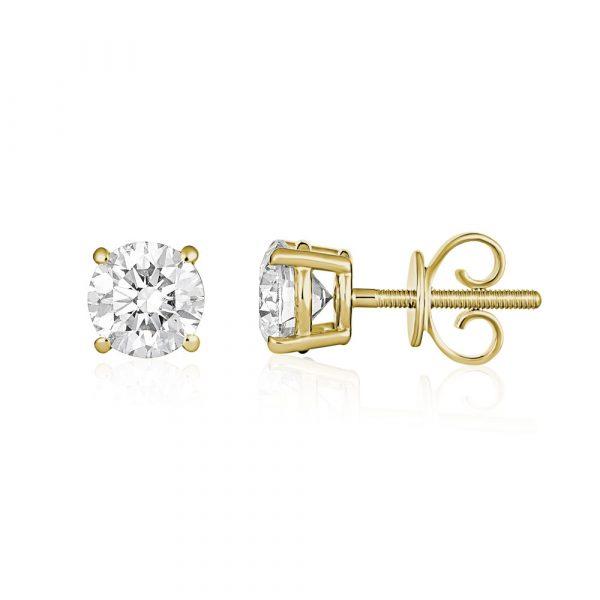 Diamond_Stud_Earrings_Rose_Gold