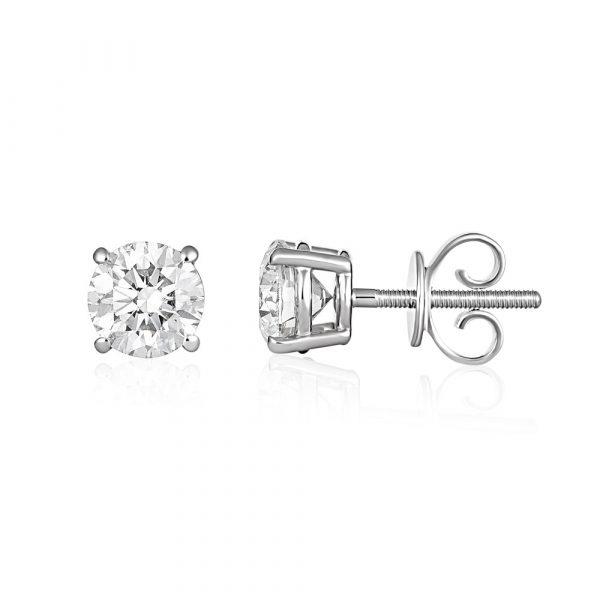 Diamond Stud Earrings Rose Gold