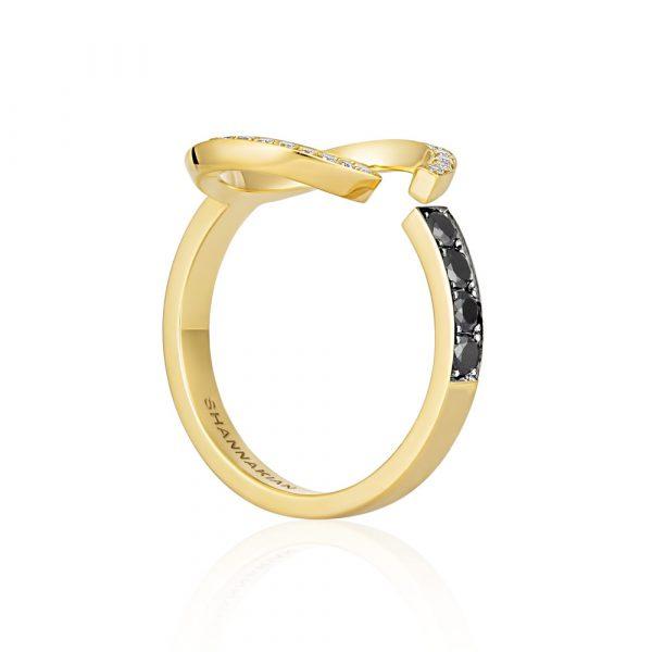 White and black diamond C ring