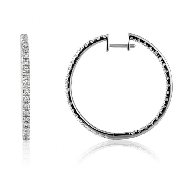 Shannakian Amarr Diamond Hoop Earrings